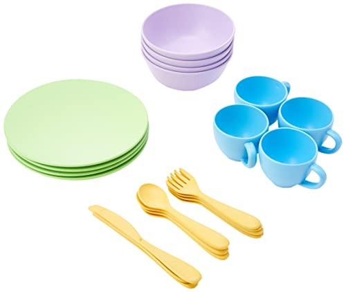 Puppengeschirr - Geschirr für Kinderküche - Green Toys 8664052, Geschirrset für Spielküche