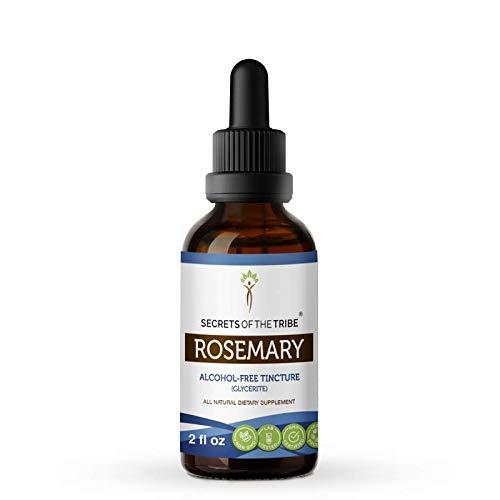Rosemary Alcohol-Free Liquid Extract, Organic Rosemary (Rosmarinus Officinalis) Dried Leaf Tincture Supplement (2 FL OZ)