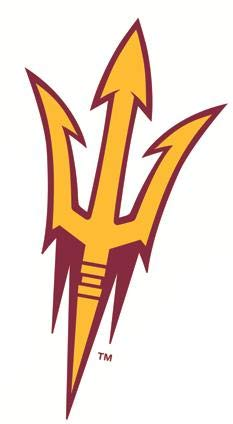 5 Inch ASU Trident Logo Decal Pitchfork Arizona State University Sun Devils AZ Removable Wall Sticker Art NCAA Home Room Decor 3 by 5 Inches