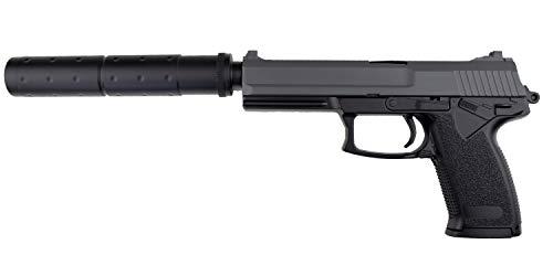 ASG HK MK23 Softair Pistole Airsoft Set inkl. Schalldämpf 6mm BB <0,5 Joule Federdruck