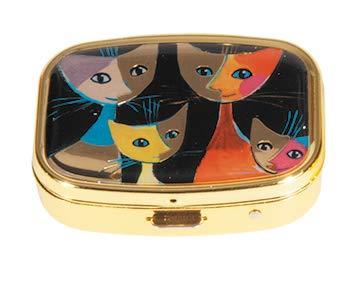 Fridolin Pillendöschen Rosina Wachtmeister-4 Katzen aus Metall, bunt, 5.1x3.6x1.8 cm