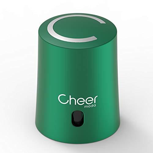 CHEER MODA Tapón de vino, tapón para ahorro de vino, bomba de vacío y tapón de botella de vino con indicador de fecha para eliminar el aire y el vacío, regalo para los amantes del vino (verde)