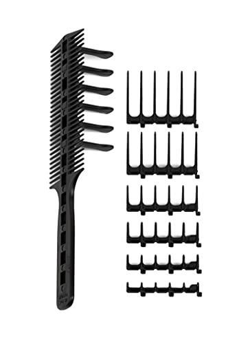De Originele CombPal Haar Knip Tool Haar Stylist Kapper Kapsel Kamgeleiderset (Zwart)