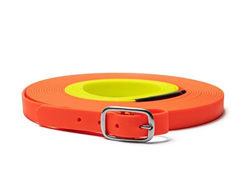 Mystique Biothane beta Schweißriemen 19mm orange-gelb 12m
