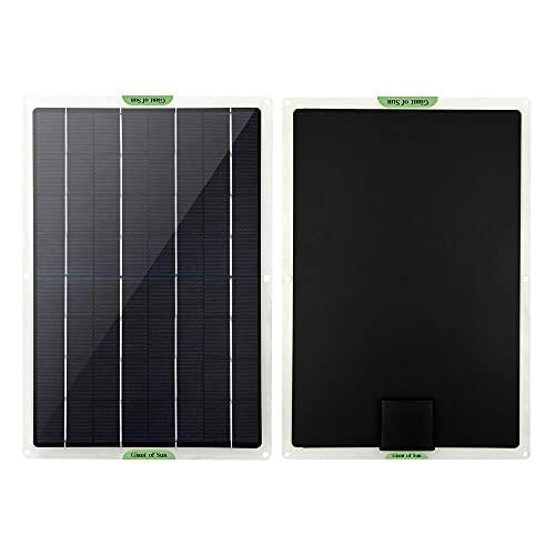 ATIN Panel solar de 10 W para coche, furgoneta, caravana, barco, cargador de batería de 12 voltios