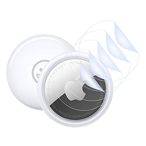 Película protectora Qoosea para Airtag, [5 piezas] Protector de pantalla de TPU flexible [Antiarañazos] [No Vidrio templado] para Airtags Tracker