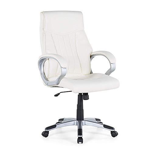 Beliani - Chaise de Bureau - Triumph - Moderne - Simili-Cuir Blanc Cassé