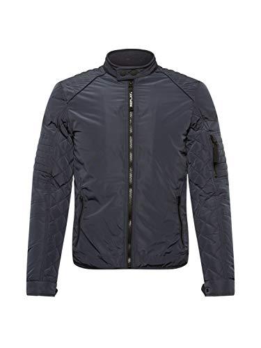 Replay Herren M8141P Bikerjacke, 086 Blue, XS