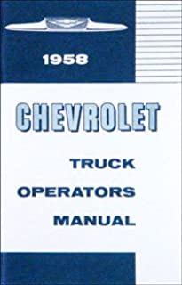 1958 Chevrolet Truck Owners Manual Chevy 58 (with Decal)