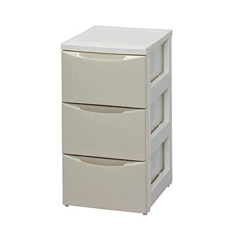 アイリスオーヤマ チェスト スリム 3段 幅32.4×奥行41×高さ61.5cm ホワイト / アイボリー 白 プラスチック COD-323