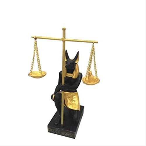LISAQ Alte Ägypten Gott Statue Anubis Richter Balance Waagen Harz Kunst & Handwerk Figuren Kreative Dekoration Home Decoration