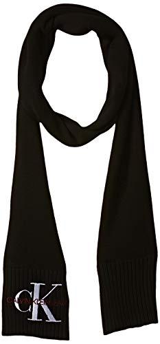 Tommy Hilfiger J Basic Women Knitted Scarf Bufanda , Negro (Black Bae)  ,  Talla única (Talla del fabricante: OS) para Mujer