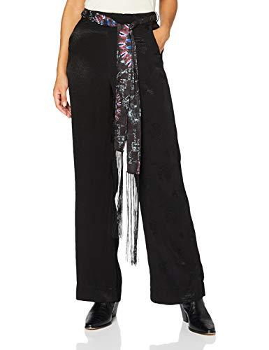 Desigual Pant_HEIRA Pantalones Informales, Negro, 40 para Mujer