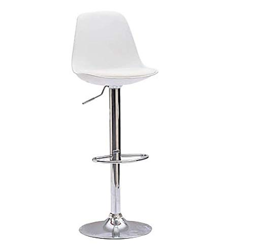 LoryArreda.Com 2 Sgabelli da Bar Cucina girevoli seduta imbottita in similpelle bianca regolabile in altezza 62-83 cm. con schienale e poggiapiedi