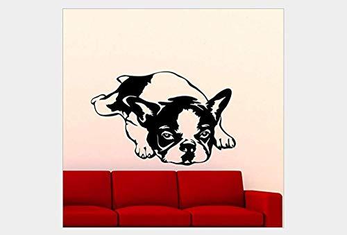 Pegatinas De Pared Decorativas Perro Mascota Serie Generación Tallada Personalidad Dormitorio Estudio Tienda De Mascotas Ventana Fondo Pared 50 * 80 Cm