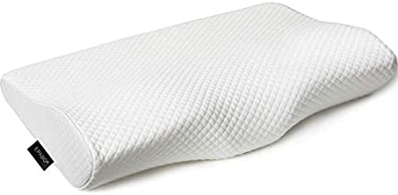 EPABO Contour Memory Foam Pillow Orthopedic Sleeping Pillows, Ergonomic Cervical Pillow for Neck Pain - for Side Sleepers, Back and Stomach Sleepers, Free Pillowcase Included ( Firm & Queen )