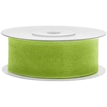 Organza Band apfelgrün 45,7 Meter=50 yard// Tischband !! 25mm