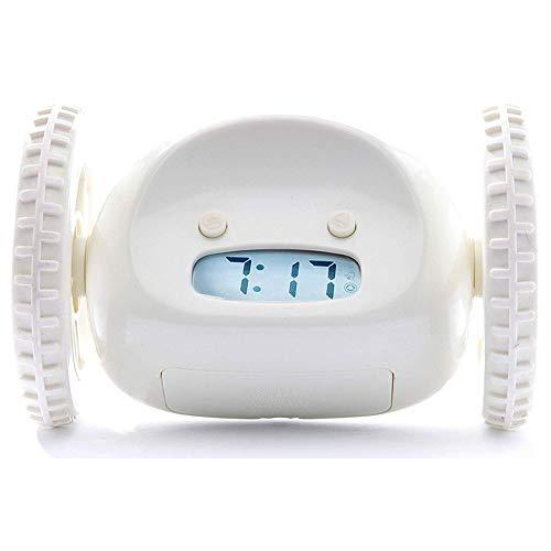 ZTKBG Clocky wekker op wielen (origineel) Loudest voor zware sleeper (volwassenen of kinderbedkamer Robot Clockie) Grappig, rollen, Run Away, verplaatsen, springen