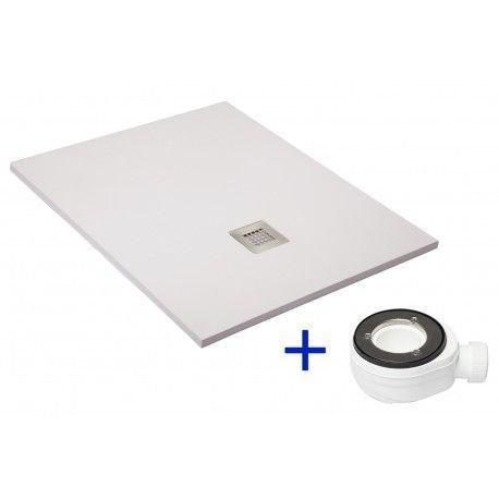 SILEX-Piatto Doccia Extra Piatto Bianco Ral 9003, Colore: Bianco, Taglia: 80 X 120