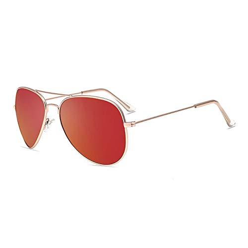 FUZHISI Gafas de Sol Gafas de Sol polarizadas Hombres Piloto Mujer Conduciendo Gafas de Sol Espejo Ovalado Gafas Gafas, Rojo