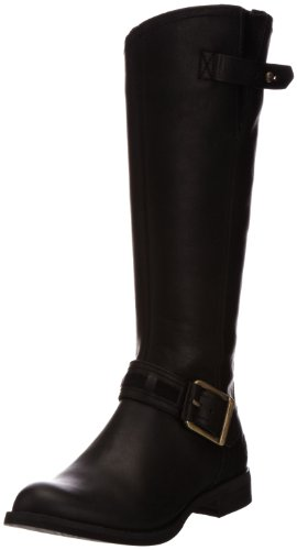 Hot Sale Timberland Women's Savin Hill Tall Boot,Black Leather,8 M US