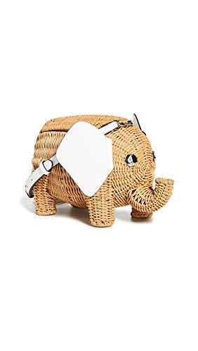 Kate Spade New York Damen Wicker Tiny Elephant Umhängetasche, Beige (optic white), Einheitsgröße