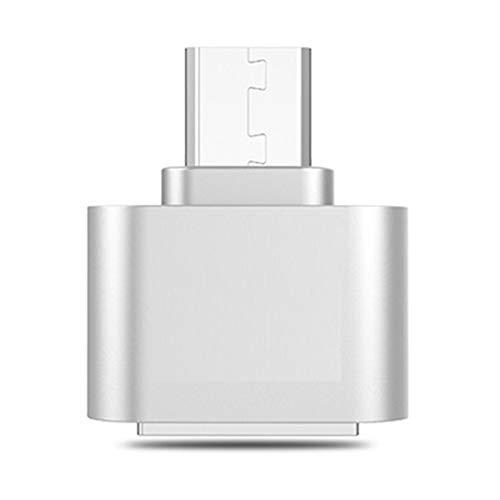 GBHD Lector de Tarjetas SD Adaptador de Cable USB 3.0 Tipo C OTG para Xiaomi Tipo C USB-C OTG Convertidor para Huawei Samsung Mouse Keyboard USB Disk Flash (Color : Silver)