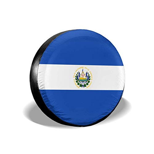 zhouyeT Cubierta del neumático Flag of El Salvador Spare Tire Cover Universal Truck Wheel Tyre Protector for Jeep SUV Trailer RV Truck Wheel