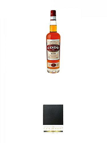 Eddu Silver Buckwheat Whisky de Bretagne (France) 0,7 Liter + Schiefer Glasuntersetzer eckig ca. 9,5 cm Durchmesser