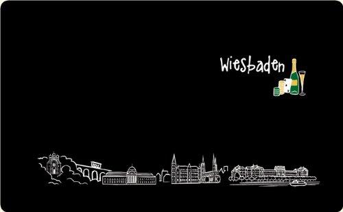 Frühstücksbrettchen Skyline Wiesbaden