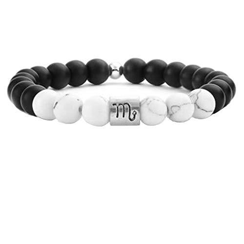 Piedras Naturales De 8Mm Perlas Pulseras Hombres Alivio Del Estrés Bolas De Yoga Pulseras De Sagitario Para Mujeres