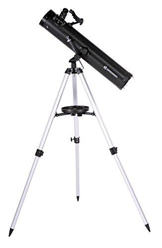Bresser Spiegelteleskop Venus Azimutal 76/700 mit Smartphone Kamera Adapter für Kinder & Erwachsene zur Beobachtung von Mond, Planeten & vielem mehr inklusive Stativ & Zubehör