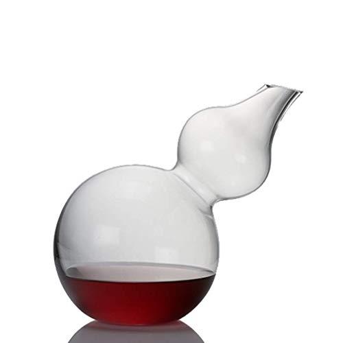 LHLJ Gourd Wine Decer, Fast Decer Vidrio Transparente soplado a Mano sin Plomo, Que Mejora el Sabor y el Aroma del Vino, Accesorios para Vino