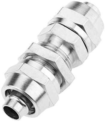 Accesorios roscados Conector rápido 1PC Tubo de manguera de aire de aire de latón accesorio neumático Acoplamiento rápido Conector de acoplamiento rápido para tubo exterior diamater PM 4mm / 6mm / 8mm