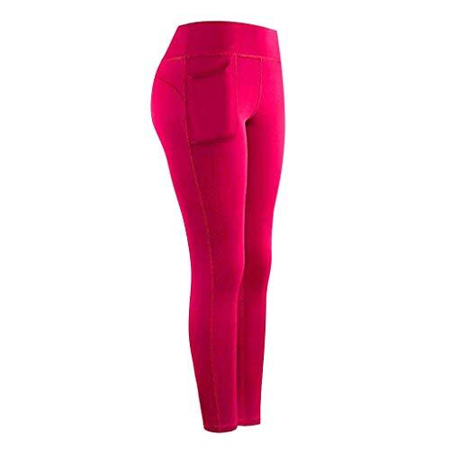 BOLANQ Mujeres Stretch Yoga Leggings Fitness Running Gym Bolsillos Deportivos Pantalones Activos