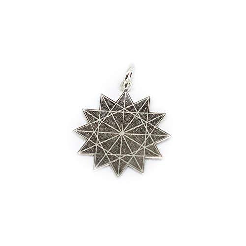 Estrella de 12 Puntas Mercurio retrogrado en Plata de Ley