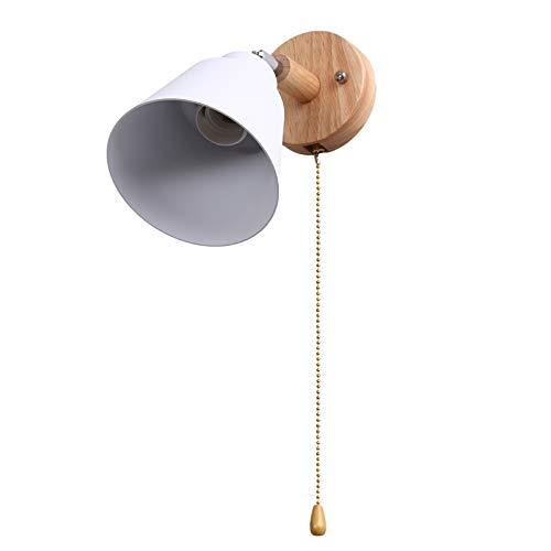Nrpfell Vintage Apliques Pared Lámparas de Pared Focos para Dormitorio, Pasillo, Baño, Exterior, Interior, con Interruptor, sin Bombilla E27 (Blanco)