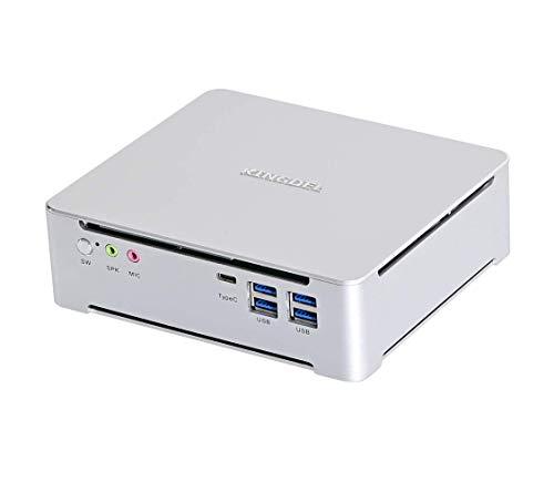 KINGDEL Mini PC Intel 9th Gen. i9 procesadores 8 núcleos, 32GB DDR4 RAM 256GB SSD,Windows 10 Pro Business Desktop Computer, pantalla 4K UHD, con ventilador, HD DP tipo C 6xUSB3.0