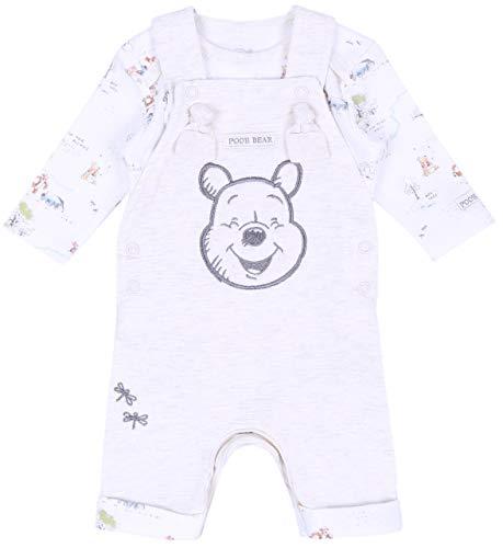 Beigefarbener Body + Latzhose Winnie The Pooh Disney 9-12 Monate