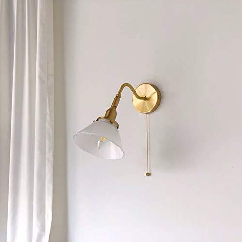 L.W.SURL Cable de Pared con la lámpara de cabecera del Interruptor Ajuste del ángulo de Sombra Vía de Oro 33.5 * 30cm
