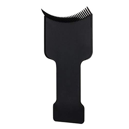 Pratique Flat Top surlignant Conseil Coloration Balayage Dye coiffure outil pour Coiffeuse utilisation à domicile 9.5 * 19cm Noir 1pc