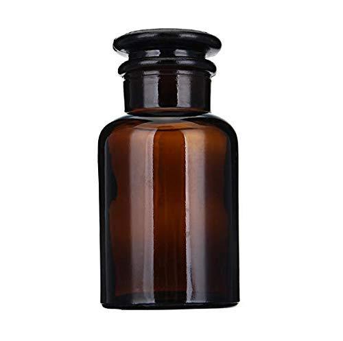 Botella de boca ancha de vidrio ámbar Botellas de almacenamiento de reactivos químicos Cristalería de laboratorio 60/125/250/500 ml - 500 ml