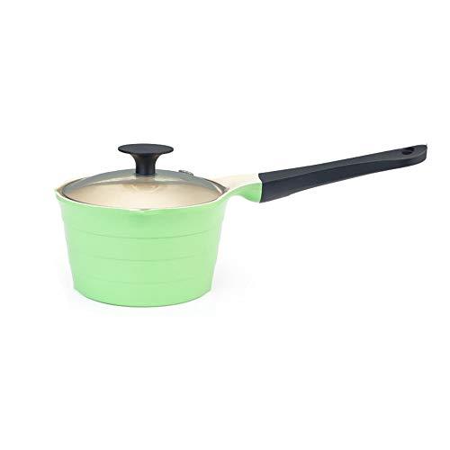 CHENSHJI Mini Butter Warmer Non-stick Milk Pot Household Small Milk Pot Baby Food Supplement Mini Pot (Color : Green, Size : 34x15x9.5cm)