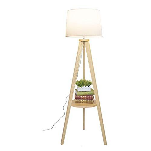 Lampes de chevet Lampadaire Salon Chambre Etude Lampadaire en Bois Massif Vertical Triangle Lampadaire Canapé Table Basse Table De Chevet Lampadaire (Color : Blanc, Size : 43×155cm)