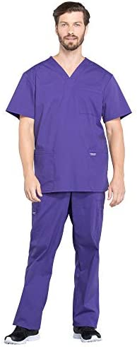 CHEROKEE Workwear Professionals Men s 4 Pocket V Neck Scrub Top WW695 Men s Drawstring Cargo product image