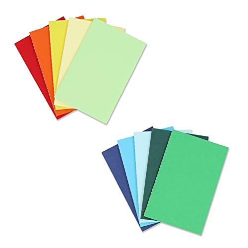 Quanerba A6 Bloc de Notas [Pack de 10], 10 Colores Cuadernos de Kraft Blanda, 48 Páginas, 5.5*3.55' (14*9cm), Libretas Grapadas para Diarios,Escolar Escribir, Diario de Viaje Libreta