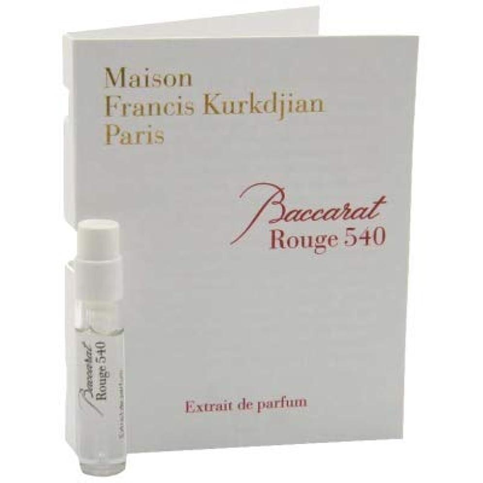 エーカー設計浸すメゾン フランシス クルジャン バカラ ルージュ 540 エクストレ ド パルファン 2ml(Maison Francis Kurkdjian Baccarat Rouge 540 Extrait de Parfum Vial Sample 2ml) [並行輸入品]