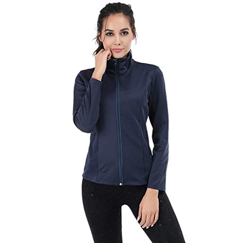Find Discount Women's Softshell Jacket Solid Color Long Sleeve Zipper Athletic Jacket Running Sports...