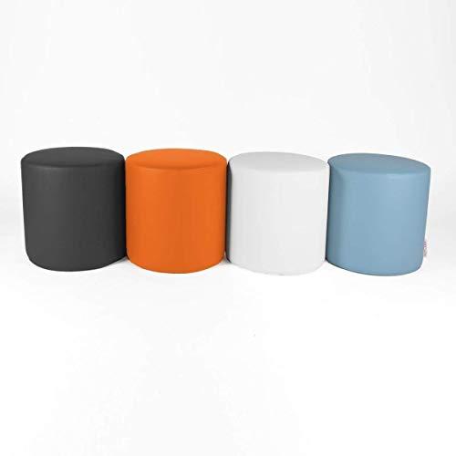 MY CHILL, POUF POGGIAPIEDI ROTONDO da Salotto puff divano POUF ecopelle cotone o microfibra personalizzabile SFODERABILE