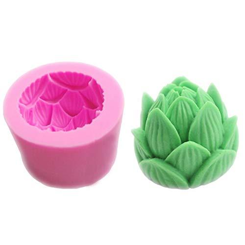 likeitwell Molde de pastel de flor de loto molde de bricolaje para hornear pastel 264264209'in molde de silicona 3D para fiesta de cumpleaños, boda aniversario
